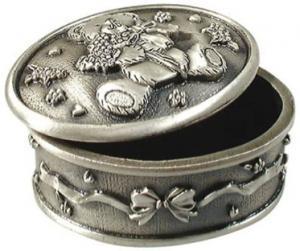 Smyckeskrin ovalt med nalle