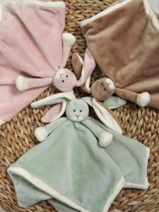 Diinglisar Snuttefilt Special Edition kanin - Teddykompaniet (Lindblomsgrön)