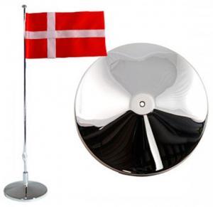 Flaggstång nysilver, Dansk flagga, 42cm | Doppresenter.se