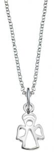 Silverhalsband 38cm med ängel | Doppresenter.se