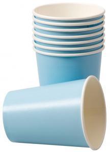 Pappersmuggar, ljus blå, 8p | Doppresenter.se