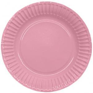 Pappersassietter 18,5cm, rosa, 8p | Doppresenter.se