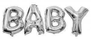 Folieballonger BABY Silver | Doppresenter.se