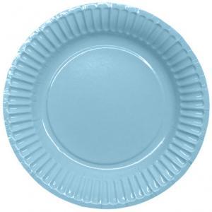 Pappersassietter 18,5cm, ljus blå, 8p | Doppresenter.se