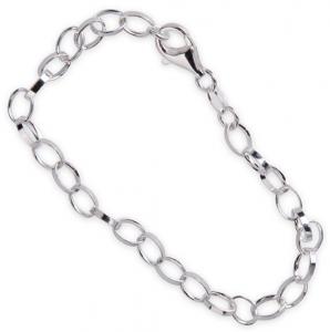 Armband 18cm för berlocker i äkta silver | Doppresenter.se