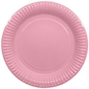 Papperstallrikar 23,5cm, rosa, 8p | Doppresenter.se