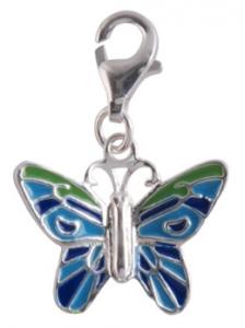 Berlock Fjäril, äkta silver - Sagosmycken | Doppresenter.se