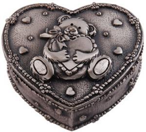 Smyckeskrin hjärta med nalle