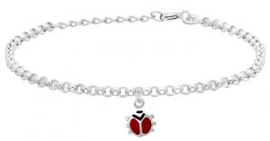 Silverarmband med nyckelpiga, 17cm | Doppresenter.se