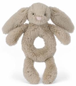 Bashful Kanin skallra, beige - Jellycat | Doppresenter.se