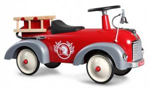 Gåbil i retromodell, brandbil, Baghera, röd