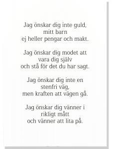 Tavla, Jag önskar dig inte guld... | Doppresenter.se