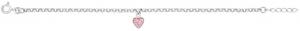 Silverarmband med rosa hjärta, 17cm | Doppresenter.se