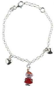 Silverarmband, lilla my, 17cm