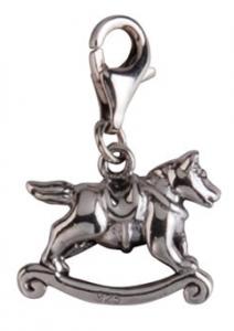 Berlock Gunghäst, äkta silver - Sagosmycken | Doppresenter.se
