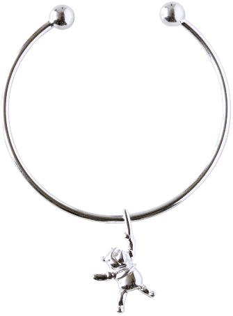 Armring Nalle Puh med berlock, äkta silver