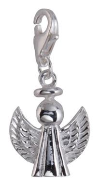 Berlock Ängel, äkta silver- Sagosmycken