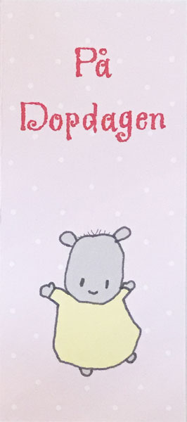 Kort, På Dopdagen, rosa - Lena Lindahl