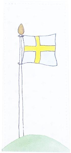 Kort Svensk Flagga - Lena Lindahl
