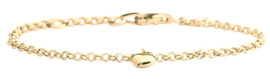 Guldarmband med guldhjärta i 8karat, 16cm