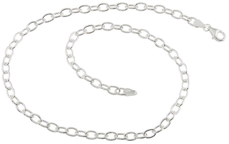 Silverhalsband 42cm