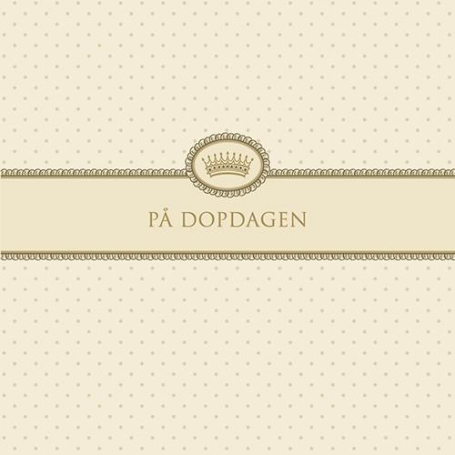 """Kort """"På Dopdagen""""(cremefärgad)"""