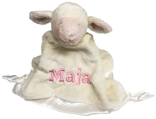 Snuttefilt Lamm med namn