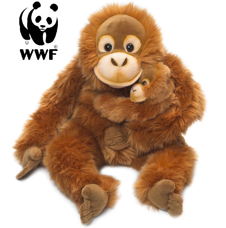Orangutang med baby - WWF (Världsnaturfonden)