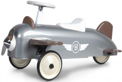 Gåbil Flygplan i retromodell, Grå/vit - Baghera