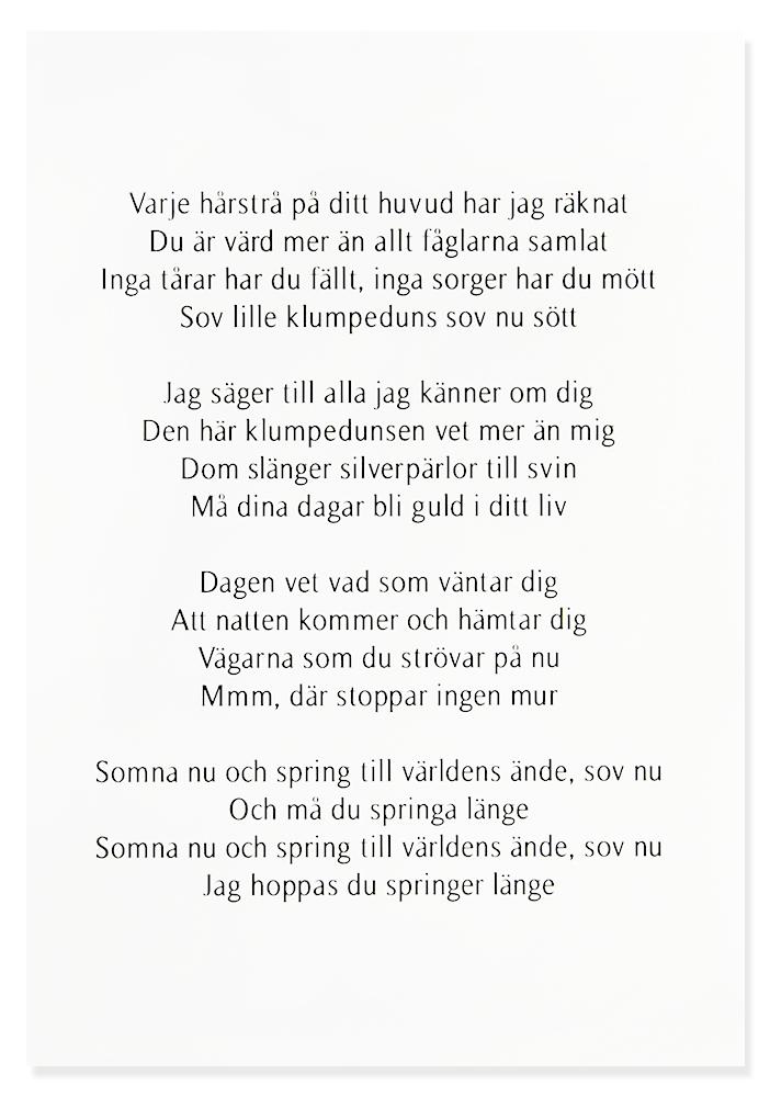 Tavla, Vaggvisa - Håkan Hellström